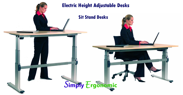 Electric Height Adjustable Computer Desk - Sit Stand Dest