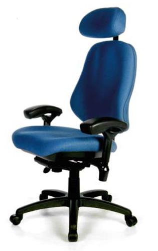 BodyBilt Bariatric 3503 Office Chair With Headrest Heavy Duty 42 Stone
