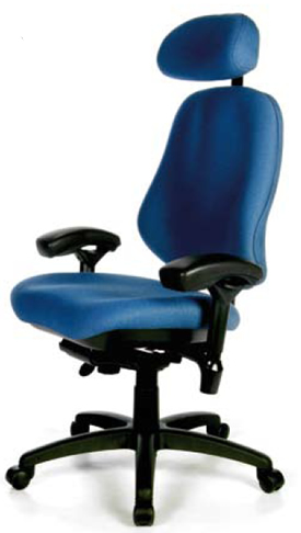 BodyBilt Bariatric 3503 Office Chair with Headrest - 42 Stone