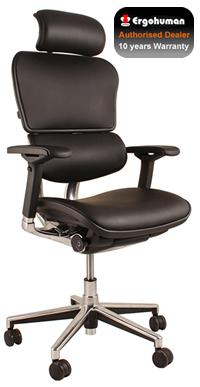 ergohuman black leather ergonomic office chair leather office chair gohuman. Black Bedroom Furniture Sets. Home Design Ideas