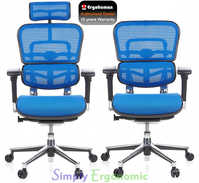 ergohuman blue mesh office chair | ergohuman mesh office chairs