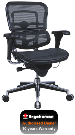 Ergohuman Mesh Office Chair - Black