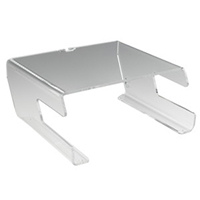 R55 Perspex Montior Stand with Keyboard Holder