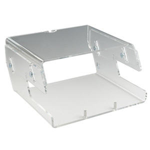 R58 Perspex Height Adjustable Monitor Stand with Copyholder