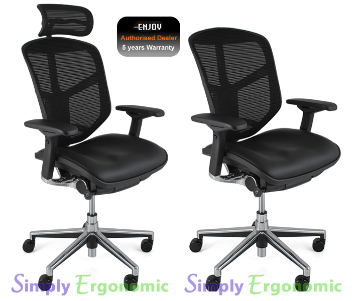 Enjoy Office Chair Leather Seat Mesh Back with Neck Rest  : enjoy chair leather mesh headrest LG <strong>Ergonomic</strong> Chairs with Neck Support from www.simply-ergonomic.co.uk size 725 x 600 jpeg 163kB
