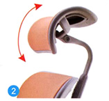 Headrest angle adjustment