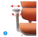 Arm pad width and angle adjustment