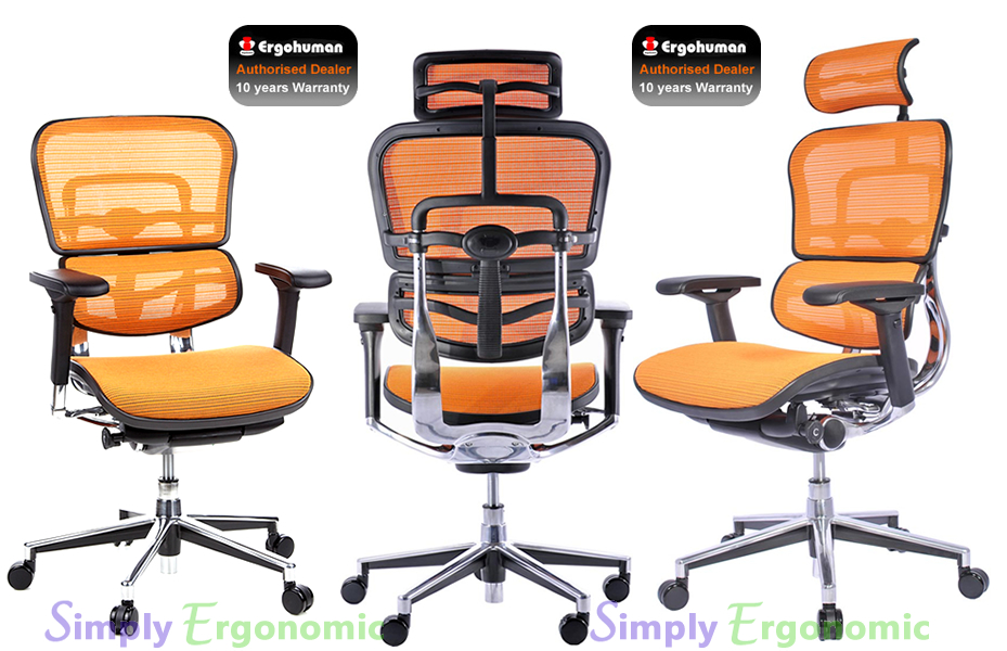 Ergohuman Orange Mesh Chair | the original ergohuman office chair ...