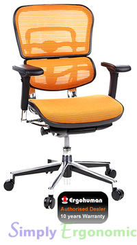 Ergohuman Mesh Chair - Orange Mesh