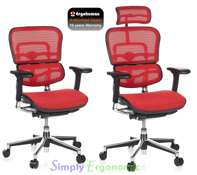 Ergohuman Red Mesh Chair | Ergohuman Ergonomic Office Chair | Mesh ...