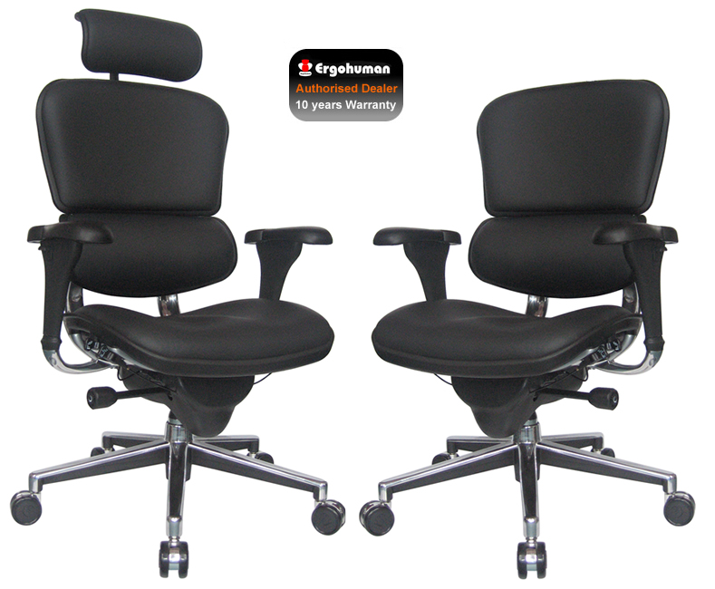 ergohuman black leather office chair leather office chair. Black Bedroom Furniture Sets. Home Design Ideas