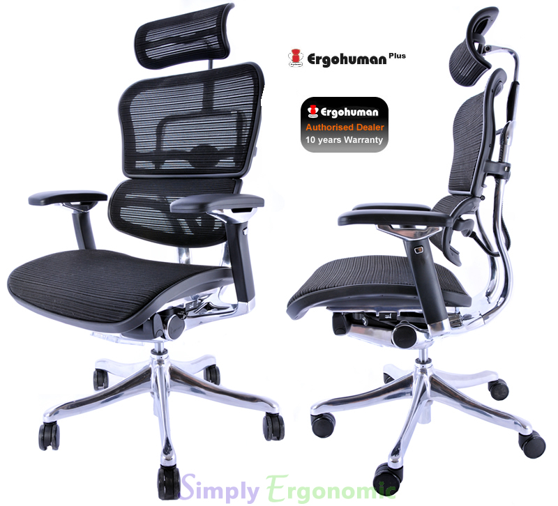 Ergohuman Plus Office Chair, ergonomic in design with lumbar support