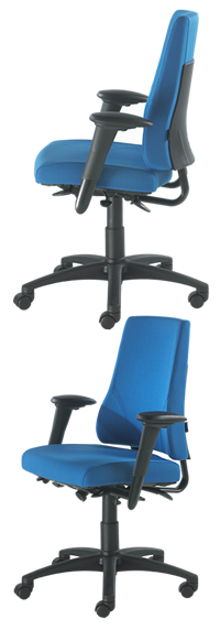 BMA Axia 2.4 High Back - With Arms - Head Rest Black Accessories
