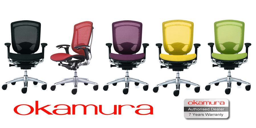 Contessa Ergonomic Mesh Office Chair By Okamura Suppied By Simply - Ergonomic office chair uk
