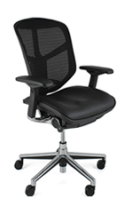 Original Enjoy Office Leather and Mesh Combination Chair