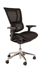Mirus Mesh Office Chair No Headrest With Black Frame