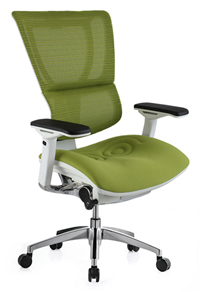 Mirus Mesh Office Chair with White Frame