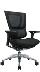 Mirus Office Chair with Polished Black Frame