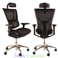 Mirus Mesh Office Chair With White Frame and Hearest