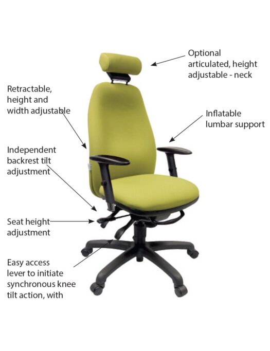 Adapt 640 Ergonomic Office Chair Functions