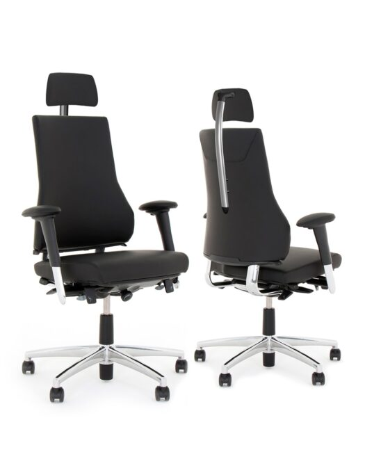 BMA Axia 2.4 Leather Ergonomic Office Chair with Headrest