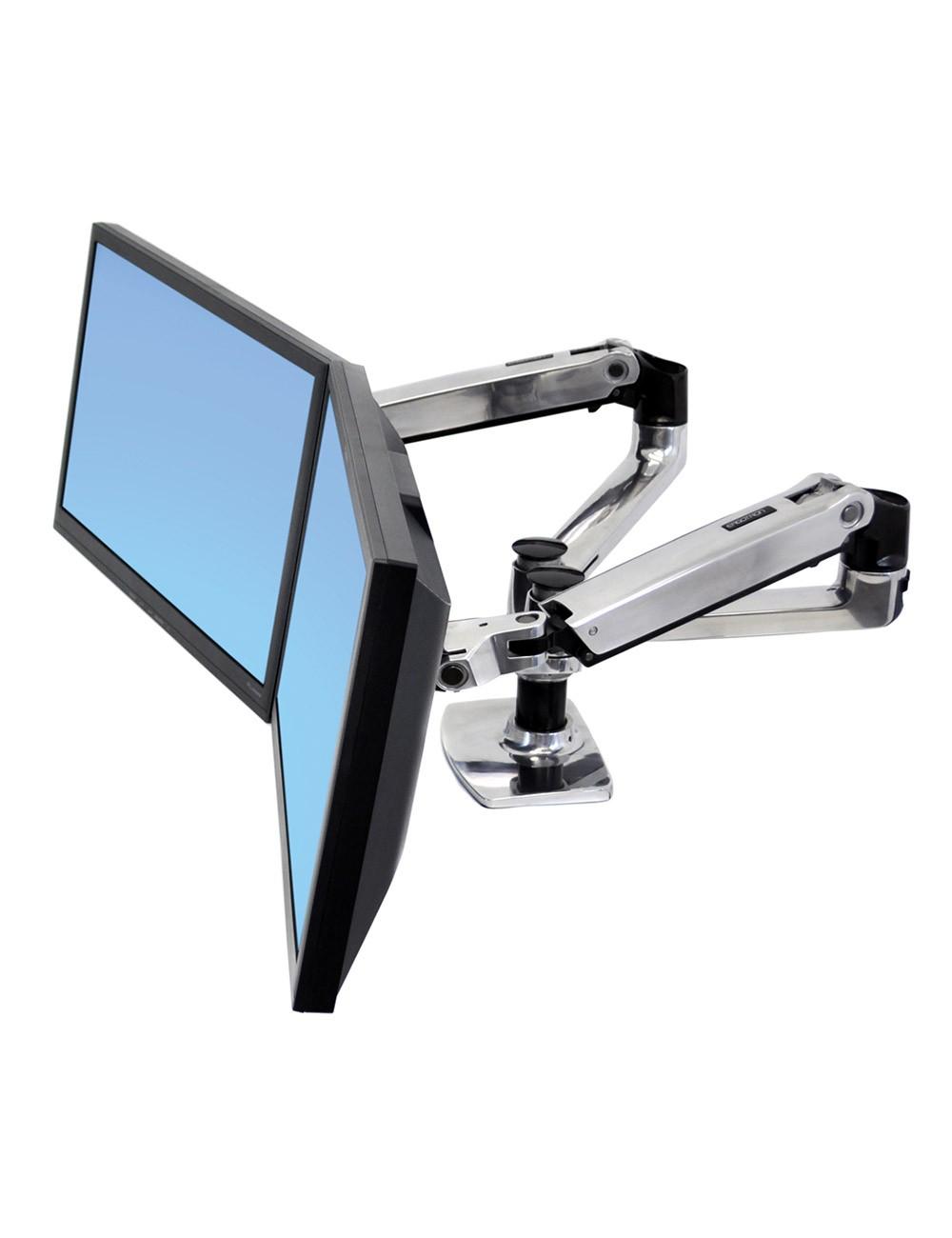 Ergotron Lx Dual Desk Mount Arm Create A Fully Adjustable