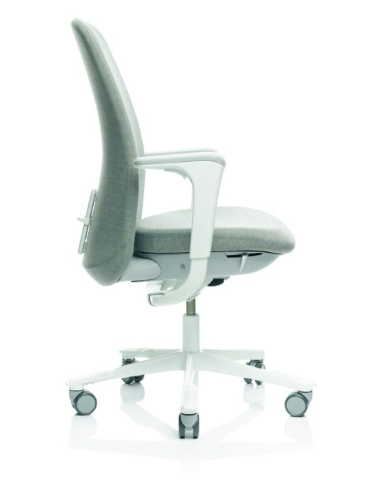 HAG Sofi 7300 High Back Office Chair side with White Frame