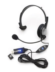 High Fidelity Monaural PC Headset With Noise Cancelling Microphone