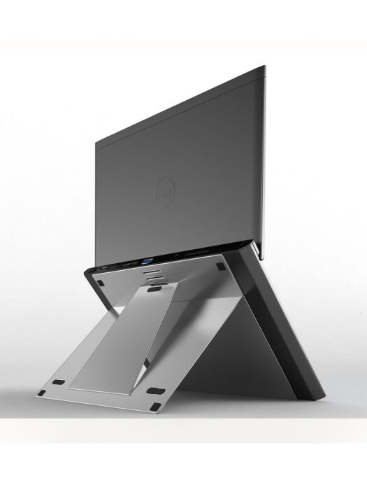 Adjustable Aluminium Laptop Stand Side