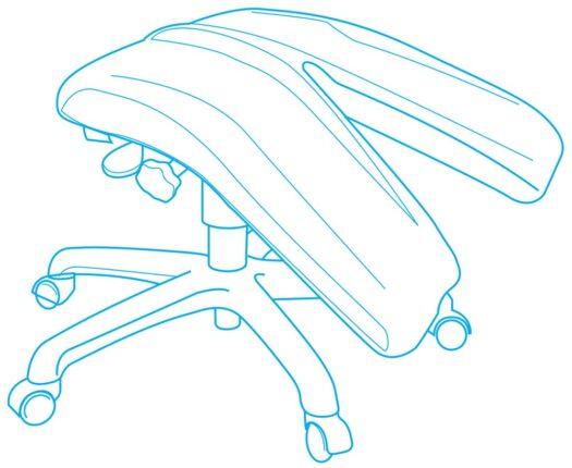 Adapt actyv™ Split Articulated Leg Rest Diagram