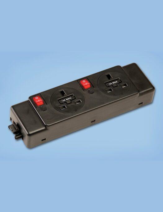 Underdesk Power Unit – 2 Power Sockets