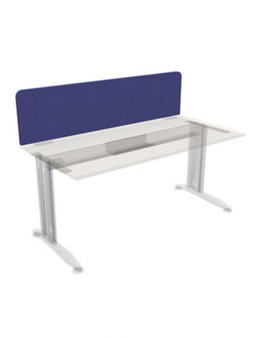 Upholstered Privacy Panel Desk Mounted