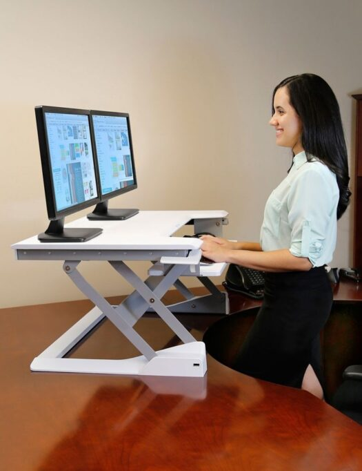 Workfit-T Sit Stand Desktop Workstation Side
