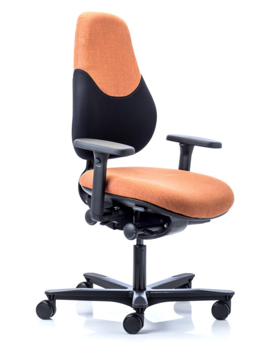 Orangebox Active Ergonomics Flo2 Medium Back Office Chair front view