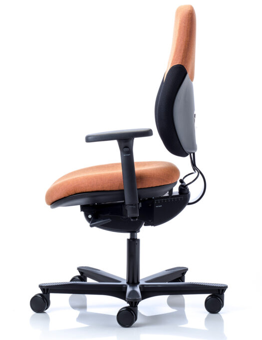 Orangebox Active Ergonomics Flo2 Medium Back Office Chair side view