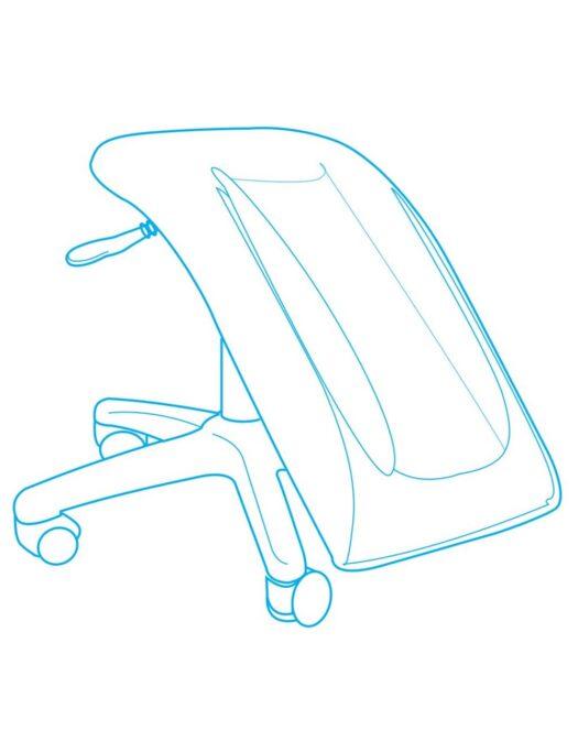 Adapt actyv Single Legrest Support Stool diagram