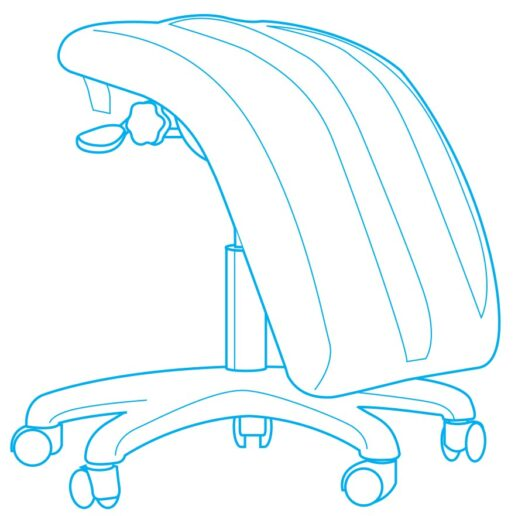 Double Articulated Leg Support Stool