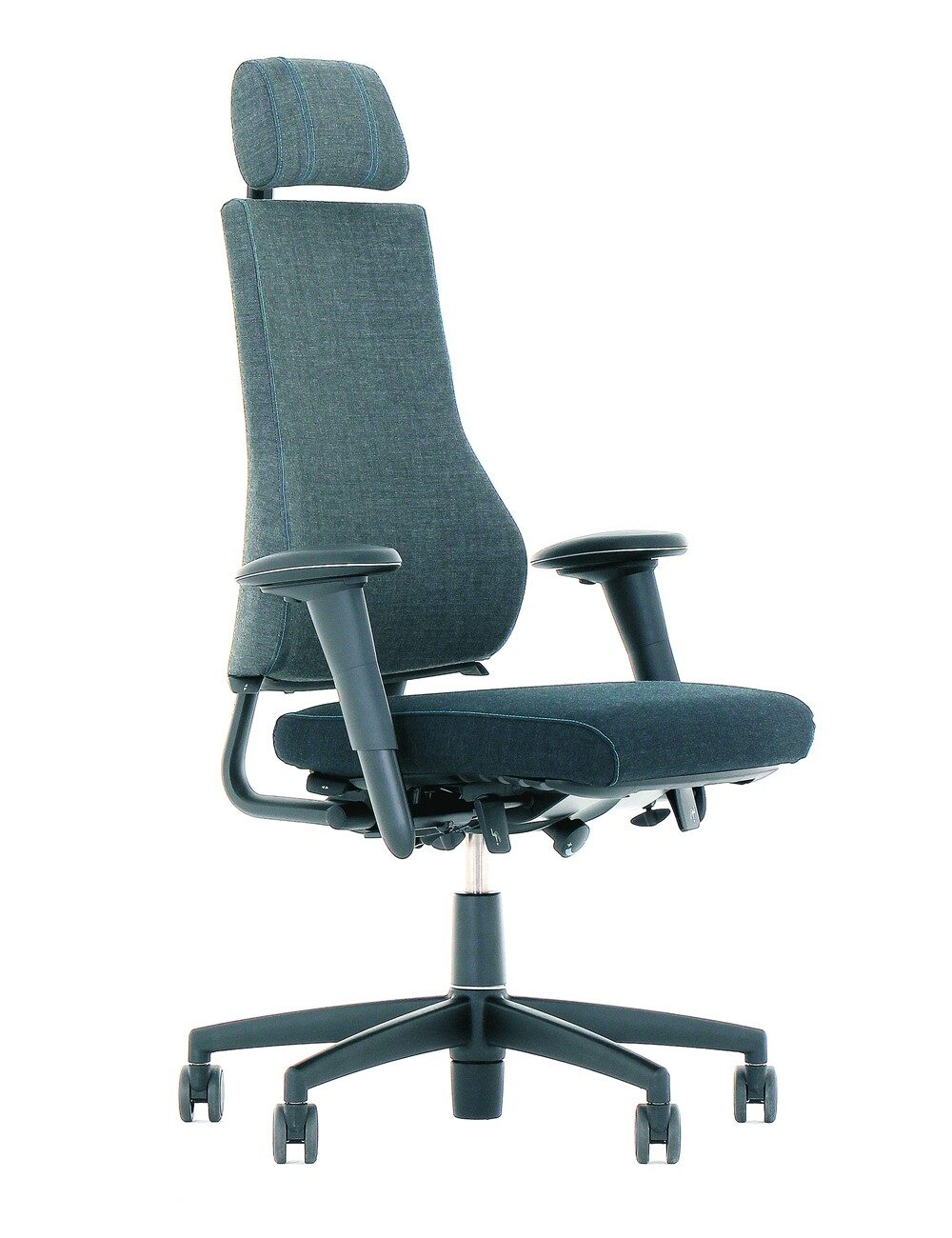 BMA Axia 2.4 Office Chair Polished Black Frame Head Rest