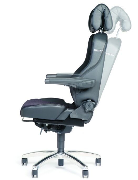 BMA Secur24 Exclusive 24 Hour Control Room Office Chair recline