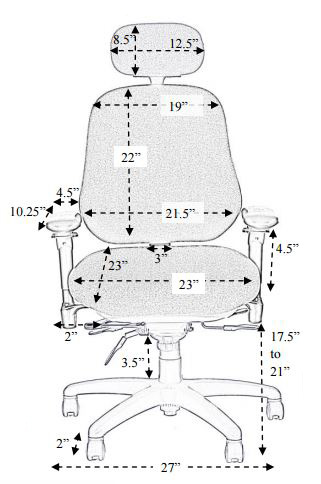 Bodybilt Stretch J3509 Tall Office Chair dims