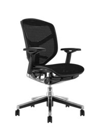 Enjoy Elite Black Mesh Office Chair no Head Rest
