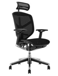 Enjoy Elite Office Chair Black Mesh with Head Rest