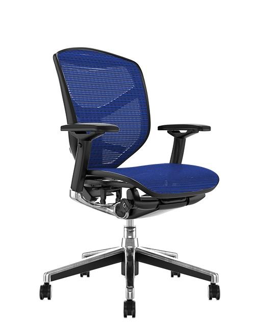 Enjoy Elite Blue Mesh Office Chair no Head Rest
