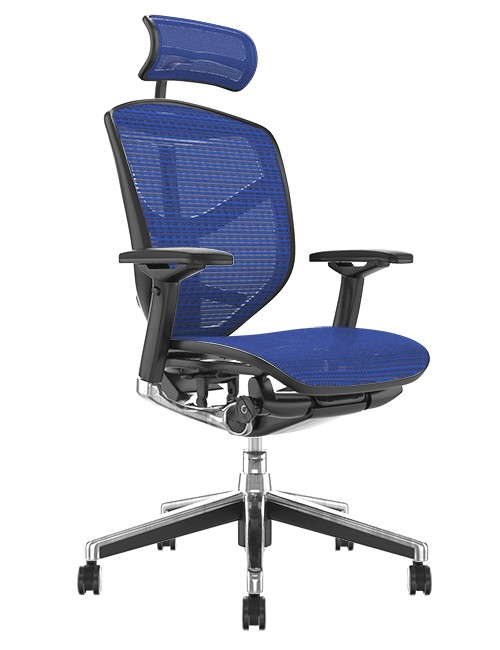 Enjoy Elite Office Chair Blue Mesh with Head Rest
