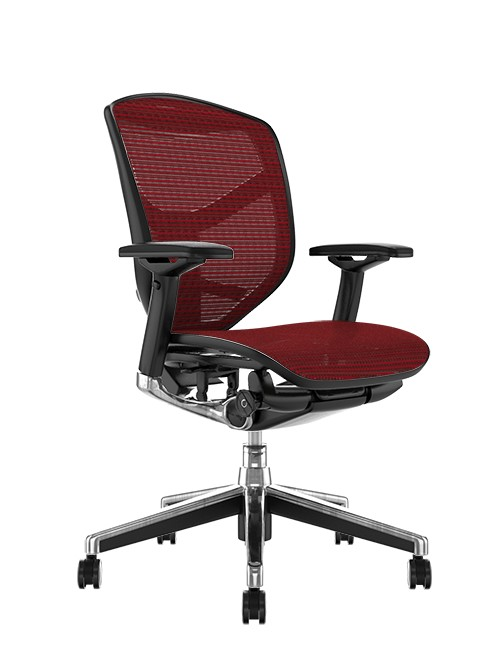 Enjoy Elite Burgundy Mesh Office Chair no Head Rest