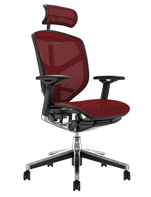 Enjoy Elite Office Chair Burgundy Mesh with Head Rest