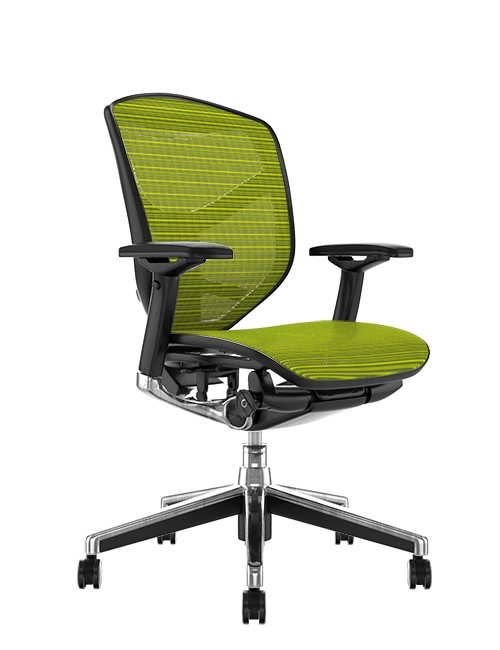 Enjoy Elite Green Mesh Office Chair no Head Rest