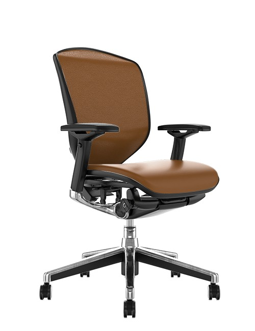 Enjoy Elite Latte Leather Office Chair