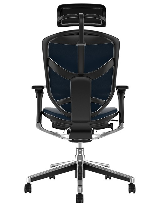 Enjoy Elite Leather Office Chair with Head Rest back view