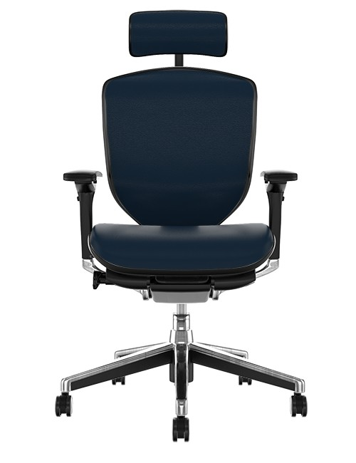 Enjoy Elite Leather Office Chair with Head Rest front view